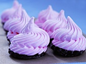 Pink Meringue Dipped in Dark Chocolate