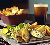 Fish and Chips with Guinness