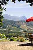 View of Franschoek from Haute Cabriere, South Africa