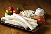 Oaxaca Cheese Varieties; Tomatoes and Peppers