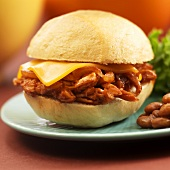 Mini Pulled Pork and Cheese Sandwich