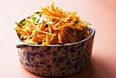 Bowl of Shredded Carrot