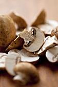 Sliced Button Mushrooms