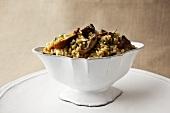 Bowl of Porcini Mushroom Stuffing
