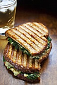 Spinach Artichoke Panini; Halved and Stacked