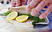 Stuffing Brook Trout with Lemon and Dill