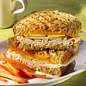 Turkey Apple Melt; Halved and Stacked