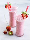 Two Strawberry Shakes