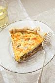 Slice of Asparagus Mushroom Quiche