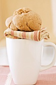 Two Ginger Cookies on a Mug
