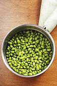 Lima Beans in a Pan