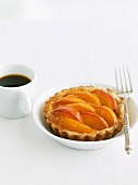 Apricot Tartlet with Cup of Espresso