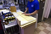 Preparing Fresh Ravioli at Italian Market