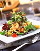 Mixed Green Salad with Calamari