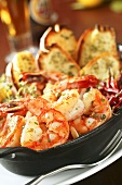 Shrimp Scampi with Garlic Toast