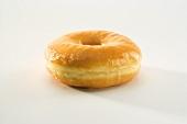 Glazed Donut on White Background