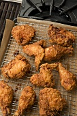 Fried Chicken on Cooling Rack