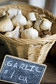 Basket of Garlic with Price Sign