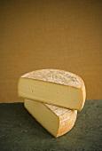 Halved Wheel of Halved Vermont  Goat Cheese