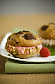 Sugarless Chocolate Chip Cookie Sandwiches with Pistachio Nuts