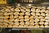 Many Sliced Rolls for Sandwiches in Deli