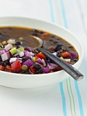 Bowl of Hearty Black Bean Soup