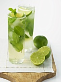 Two Mojitos with Fresh Limes