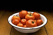 Bowl of Fresh Picked Tomatoes
