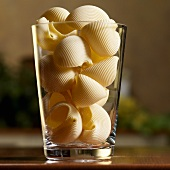 Pasta Shells in a Tall Glass Vase