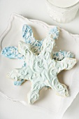 Snowflake Cookies for Hanukkah; With Milk