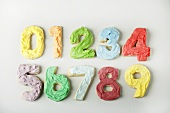 Frosted Number Cookies from 0 to 9