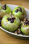Baked Stuffed Apples in a Baking Dish