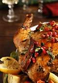 Whole Organic Roast Chicken with Pomegranate, Lemon and Oregano