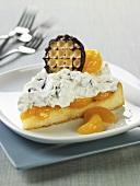 Slice of Mandarin Marshmallow Kisses Cake