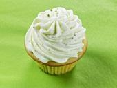 A lime cupcake
