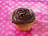 Chocolate Cupcake with Chocolate Frosting and Chocolate Squares