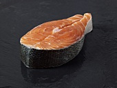 A fresh salmon steak