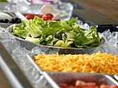Salad Bar with Bowls on Ice