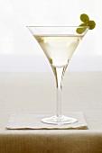 Martini with Green Grape Garnish