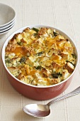 Baked Chicken Strata in Baking Dish