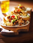 Fried Fish Tacos with Avocado and Tomato