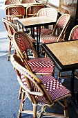 Outdoor Tables and Chairs at a Cafe in France