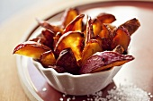 Potato Wedges in a Small Bowl