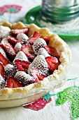 Strawberry Pie Dusted with Powdered Sugar