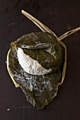 Hoja Santa (goat's cream cheese wrapped in pepper leaves) from Dallas, Texas