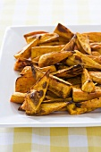 Platter of Baked Sweet Potato Wedges