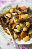 Mushroom and Butterbean Tagine in a Bowl with Spoon