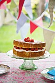 Lemon and Raspberry Cake for a Summer Party