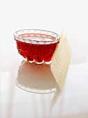Red Jello in a Glass Mild with Gelatin Sheets
