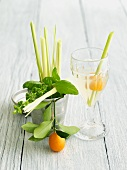 Culinary Cocktail with Lemon Grass and Kumquat